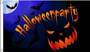 Halloween Party Pumpkin Large Flag - 5' x 3'.